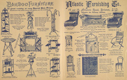 Advert for the Atlantic Furnishing Company, reverse side 8072